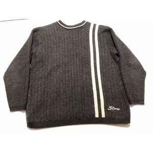 Vintage Stone Island Striped Spell Out Sweater L